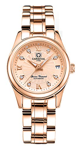 - CARNIVAL Women's Automatic Mechanical Watch Fashion Rose Gold Dress (Rose Gold)
