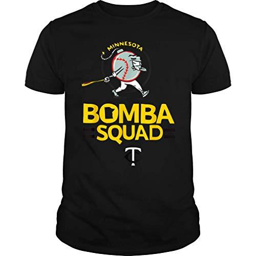 JohmadTees Bomba Squad Twin Tshirt Funny Basketball Minnesota Shirt for Men Women (Unisex T-Shirt;Black;XL)