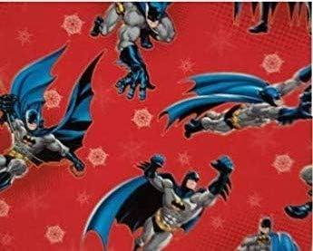 Amazon Com Ns Holiday Christmas Wrapping Paper Batman Gift Wrap Bonus Noelles Xmas Window Gel Clings Greetings Party Festive 20 Sq Feet 1 Roll Home Kitchen
