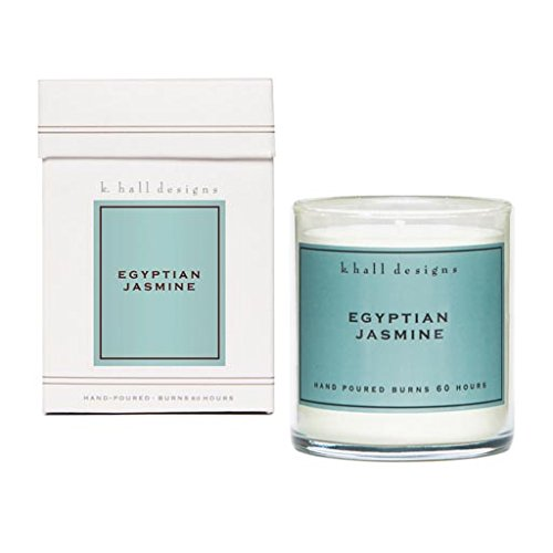 K. Hall Designs 60-Hour Vegetable Wax Candle Pack of 4 - Egyptian Jasmine