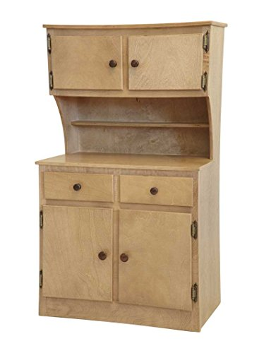 Amish Buggy Toys Kid's Wooden Play Hutch, Harvest -