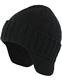 Mens Winter Hat Knit Earflap Hat Stocking Caps with Ears Warm Hat