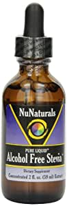 NuNaturals Nustevia Alcohol Free Stevia Liquid - A Natural Stevia Sweetener For Your Beverages, Baked Goods and More, 2-Ounce