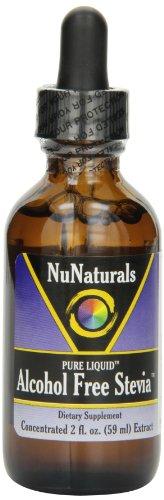 NuNaturals Nustevia Безалкогольное Стевия Стеклянная бутылка жидкости, 2-Унция