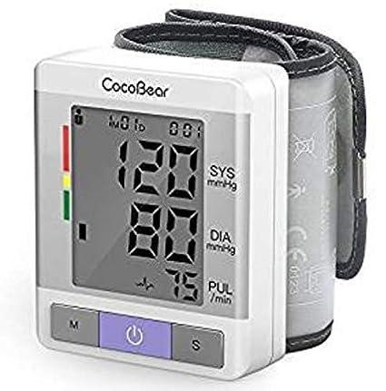 【Salud y Portátil】Tensiómetro de muñeca CocoBear Tensiometro de muñeca digital,Memoria(2 * 90)certificación FDA/CE: Amazon.es: Salud y cuidado personal