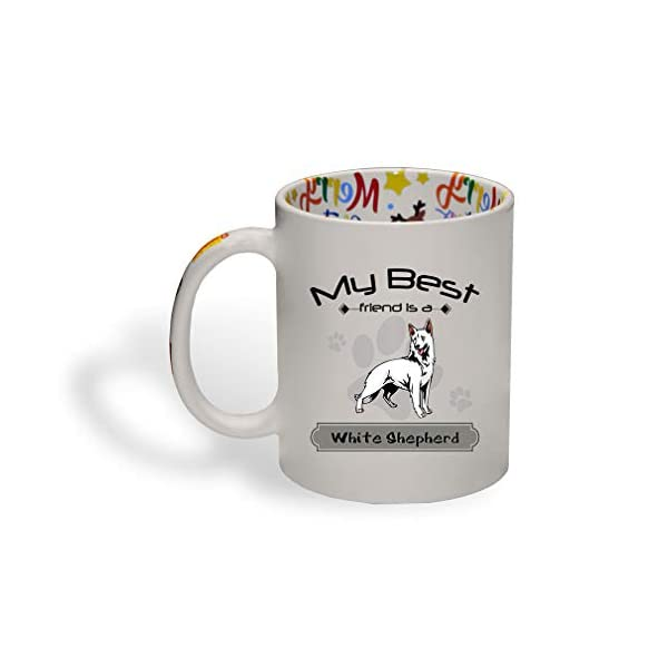 Ceramic Christmas Coffee Mug My Best Friend Is White Shepherd Dog Funny Tea Cup 1