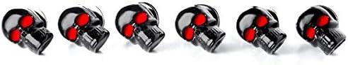 Krator Custom Black Skeleton Skull Bolt Nuts Screws 6mm For Honda VT Shadow Spirit Velorex Deluxe 600 750 1100