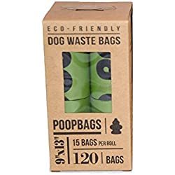 PoopBags (8EE004) Pet Business Magazine Award Winning Dog Waste Bags, 8-Rolls, 120 bags