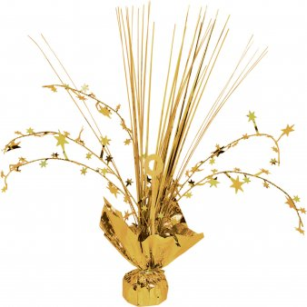 Amscan International Gold Stars Foil Spray Centrepieces (3 Pack)
