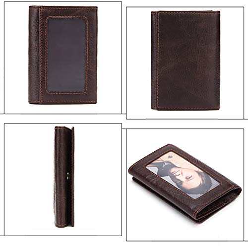 Credit Banknote with H Zipped amp; Holder Purse Press HANSHI Button HBZ01 Cowhide Wallet Men's Coin Card Pocket Clip Zipper nStH7wqpY