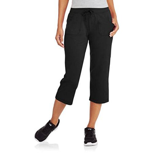 (Athletic Works Womens Active Knit Capri (X-Large, Black))