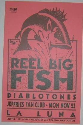 Reel Big Fish Rare La Luna Portland Ska Concert Poster from ConcertPosterArt