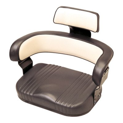 - International Harvester Replacement Cushion Seat - Black and White, Model# 56000BW02IH