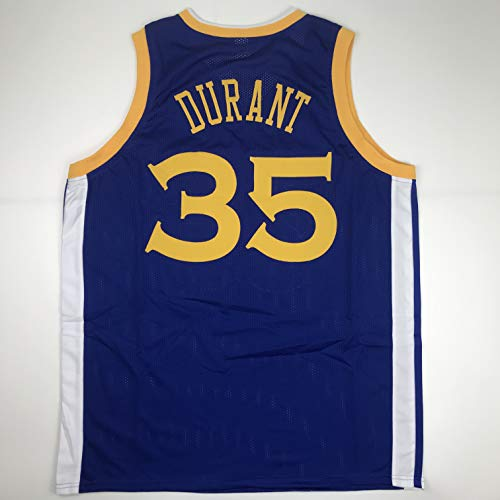 (Unsigned Kevin Durant Golden State Blue Custom Stitched Basketball Jersey Size Men's XL New No Brands/Logos)