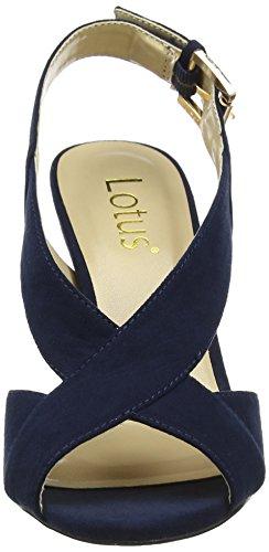 Lotus Damen endive Slingback Pumps, Rose Blue (Navy Microfibre)