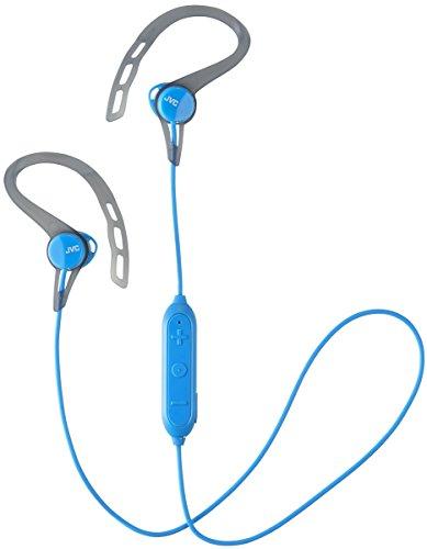 JVC Wireless Sports Ear Clip Headphones, Bluetooth Connectivity, Sweat Proof IPX2, Pivot Motion Fit - HAEC20BTA ()