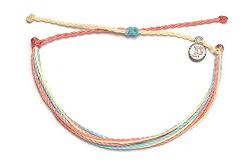 Pura Vida Beach Life Single Bracelet - Handcrafted - 100% Waterproof Wax Coated - Dolphin Ring Style Band