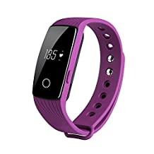 KOBWA Heart Rate Monitor & Fitness Tracker,ID107 Activity Watch Bluetooth 4.0 Waterproof Wireless Smart Bracelet Pedometer for Android and IOS Smartphone,Sport Wristband with Multi-Functions