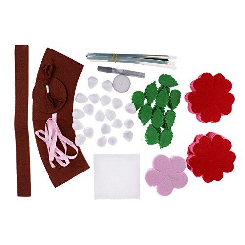 baoblazeピンクPotted RoseフェルトキットクラフトニードルFeltingファブリックDIY裁縫パッケージの商品画像