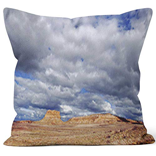 (Nine City Southwestern Mesa Rock Formation Home Decorative Throw Pillow Cover,HD Printing Square Pillow case,40