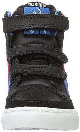 Hummel Stadil Jr Leather High, Zapatillas Altas Unisex Niños Negro (Black/brilliant Blue)