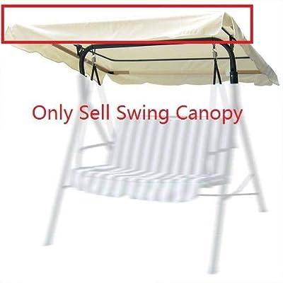 CRBlife Beige Patio Replacement Swing Canopy 194x112cm : Garden & Outdoor
