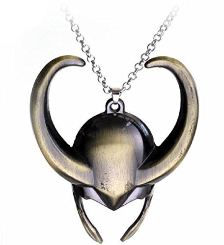 Helmet Pendant (Marvel's Loki Helmet Pendant Necklace)