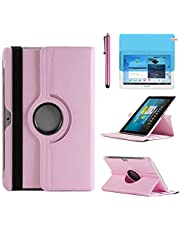 Case for Samsung Galaxy Tab 2 10.1 inch Tablet (GT-P5100 GT-P5110 GT-P5113), 360 Degree Rotating Stand Case Full Protective Cover,with Stylus Pen,Screen Film (Pink)