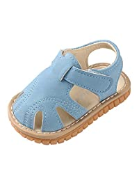 Rishine Toddler Baby Shoes, Summer Solid Color Girls Boys Roman First Walkers Soft Sole Sandals