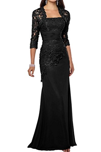 VaniaDress Women Long Mother Of The Bride Dress With Jacket Formal Gowns V263LF Black US14 from VaniaDress