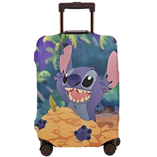 Anime Stitch Travel Luggage Cover Suitcase Protector Washable Baggage Luggage Covers Zipper Fits 26-28 Inch
