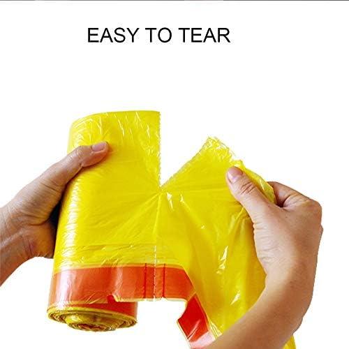 ホームオフィス肥厚キッチンポータブル自動閉鎖環境保護ビニール袋無味で耐久性のあるゴミ袋巾着ゴミ袋キッチントイレ寝室のゴミ箱頑丈なゴミ袋ミディアム18