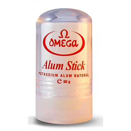 Omega Potassium Alum Stick After Shave Shaving Facial Toner Treatment of Razor Cuts & Nicks