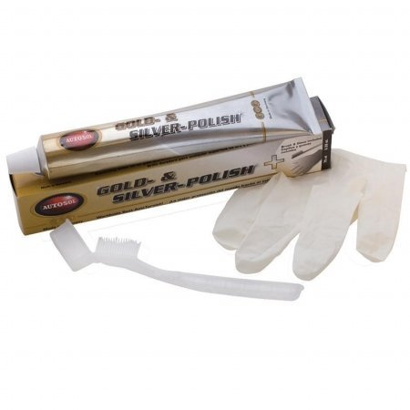 Autosol 1053 Gold & Silver Polish with brush & glove Case of 24