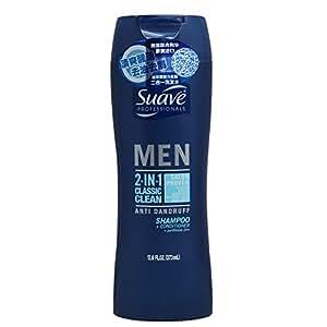 Suave Men Anti Dandruff 2 in 1 Shampoo and Conditioner, Classic Clean 12.6 oz