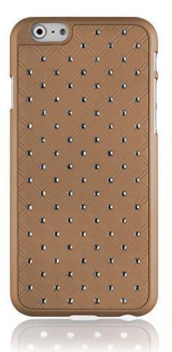 """Strass Glitzer Handy Back Hard Case Schutz Hülle für """"Apple Iphone 6"""" Cover Schale Tasche Bumper gold"""