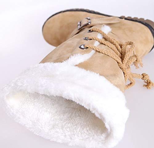 LIANGXIE Botas de Nieve de Gran tama/ño para Mujer Botas de Invierno c/álido Botas Gruesas de algod/ón Botas para Mujer