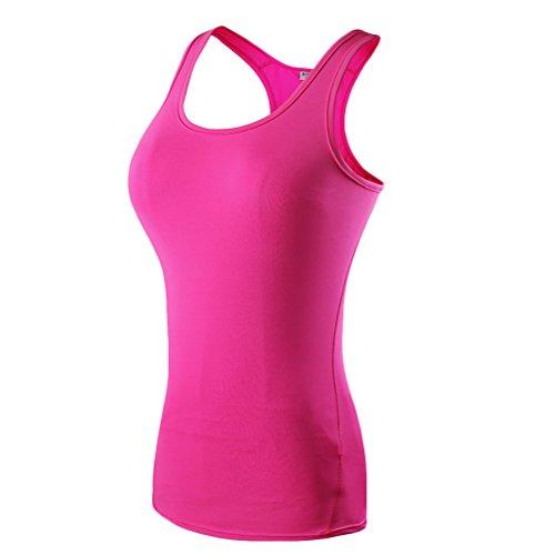 はちみつ情緒的展望台Zhhlaixing Womens Ladies Sports Vest Top Stretch Cool Dry Wicking Fitness Gym Yoga Run