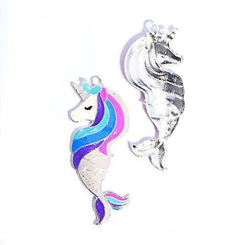 Pendants Accessories Unicorn Mermaid Shape DIY Metal Charms Jewelry Findings Making Accessory for Necklace Jewelry Making and Crafting (Unicorn Mermaid 1) ()