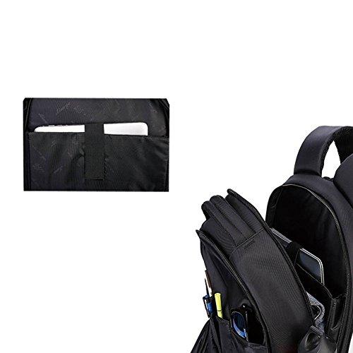 LOSORN ZPY Unisex Modern 15.6- 17 Zoll Laptop Tasche Aktentasche Business Schwarz Rucksack für Laptop Notebook Computer MacBook 3WMVvv