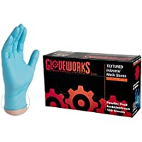100-Pack Ammex Gloveworks Industrial Nitrile Disposable Gloves (Small)