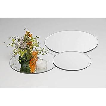 Spiegelplatte Deko.Sandra Rich Spiegelplatte Tischspiegel Deko Spiegel D 25cm Rund Glas