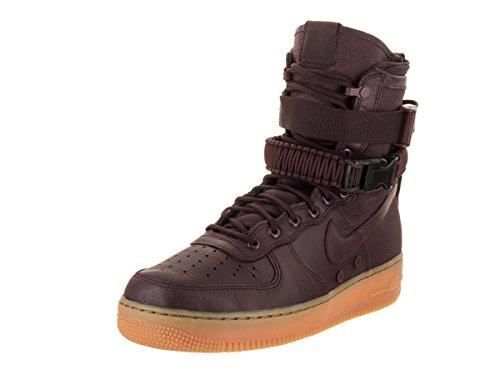 Nike Mens Sf Af1 Scarpa Casual Profondo Bordeaux / Nero
