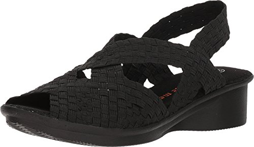 Bernie Mev Women's, Kira Low Heel Sandals Black 3.8 M