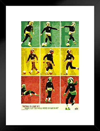 - Pyramid America Bob Marley Football Matted Framed Poster Poster 20x26 inch