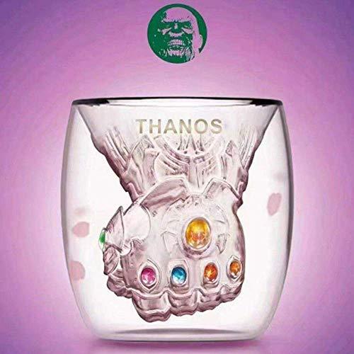 (WRT Six Energy Gemstones Gauntlet Glass Mugs Avengers Infinity War Gauntlet Coffee Cup,Thanos Infinity Gauntlet Glass Cup Milk Mugs Gifts for Someone Gifts)