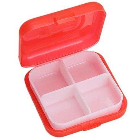 Edtoy Pill Box Holder Tablet Medicine Storage Dispenser Organizer Red