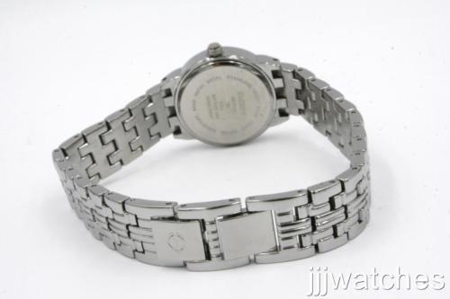 Elgin Diamond EG7042 Women's Analog Black Round Silver Tone Bracelet Style Watch