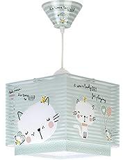 Dalber kinderen plafondlamp Loving Cat groene dieren 60 W