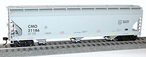 Ho Union Pacific Hopper - ACF 47' 3-Bay Center-Flow Covered Hopper - Kit -- Union Pacific CMO (gray, Building America Logo)
